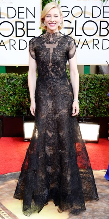 Un'elegantissima e raffinatissima Cate Blanchett in Giorgio Armani.