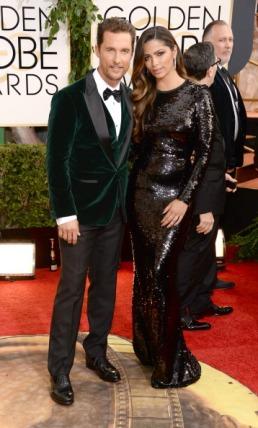 Un po' di novità con la giacca di velluto verde bosco di Matthew McConaughey